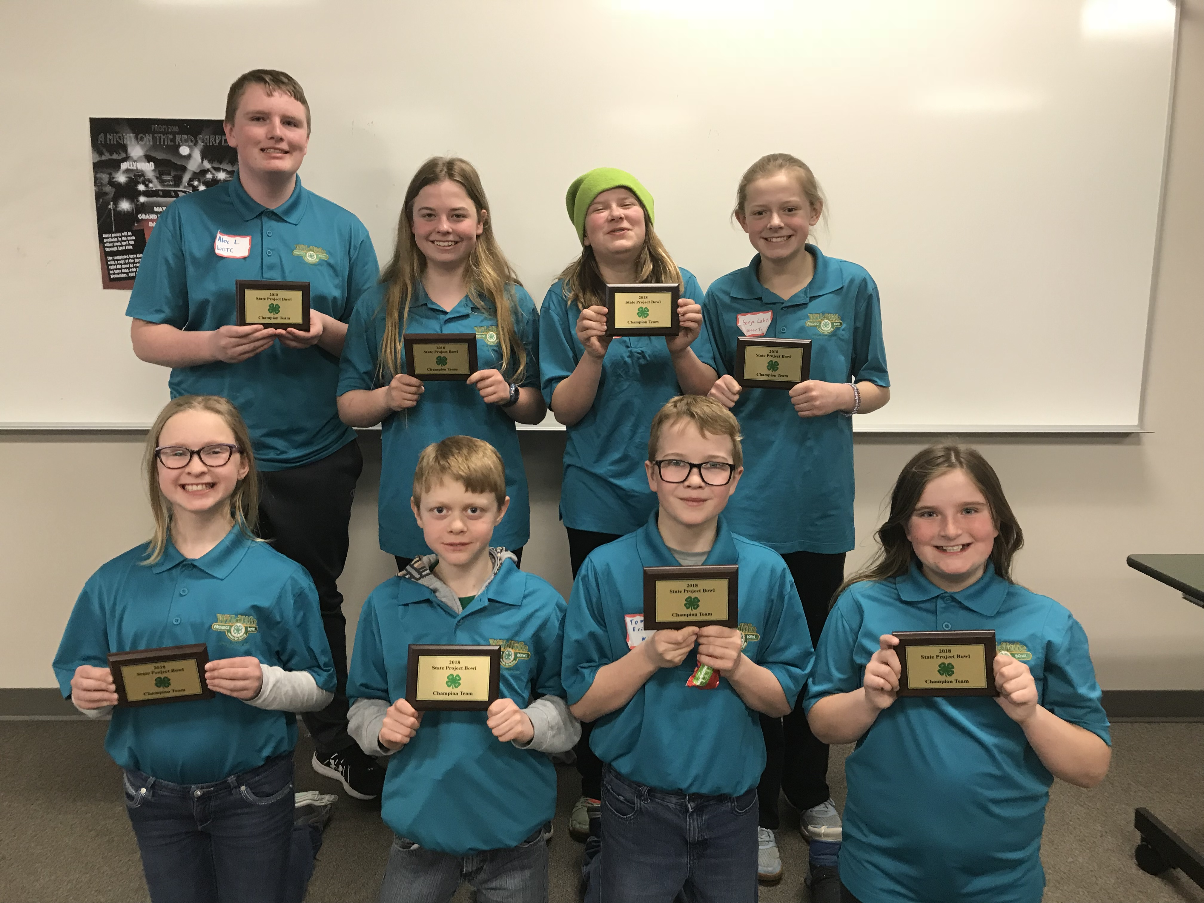State 4-H Project Bowl Champions