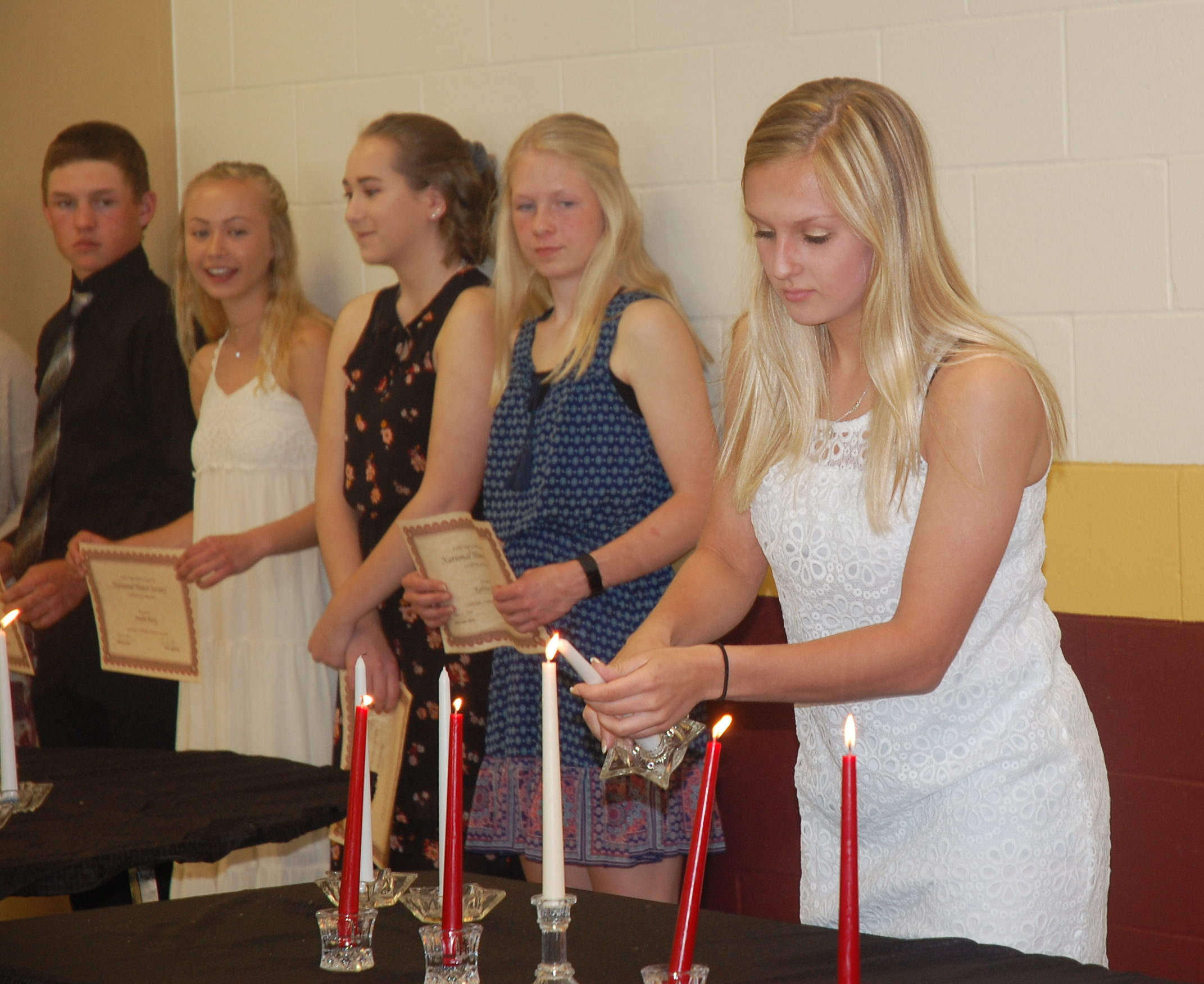 Ashby HS NHS Inducts Members