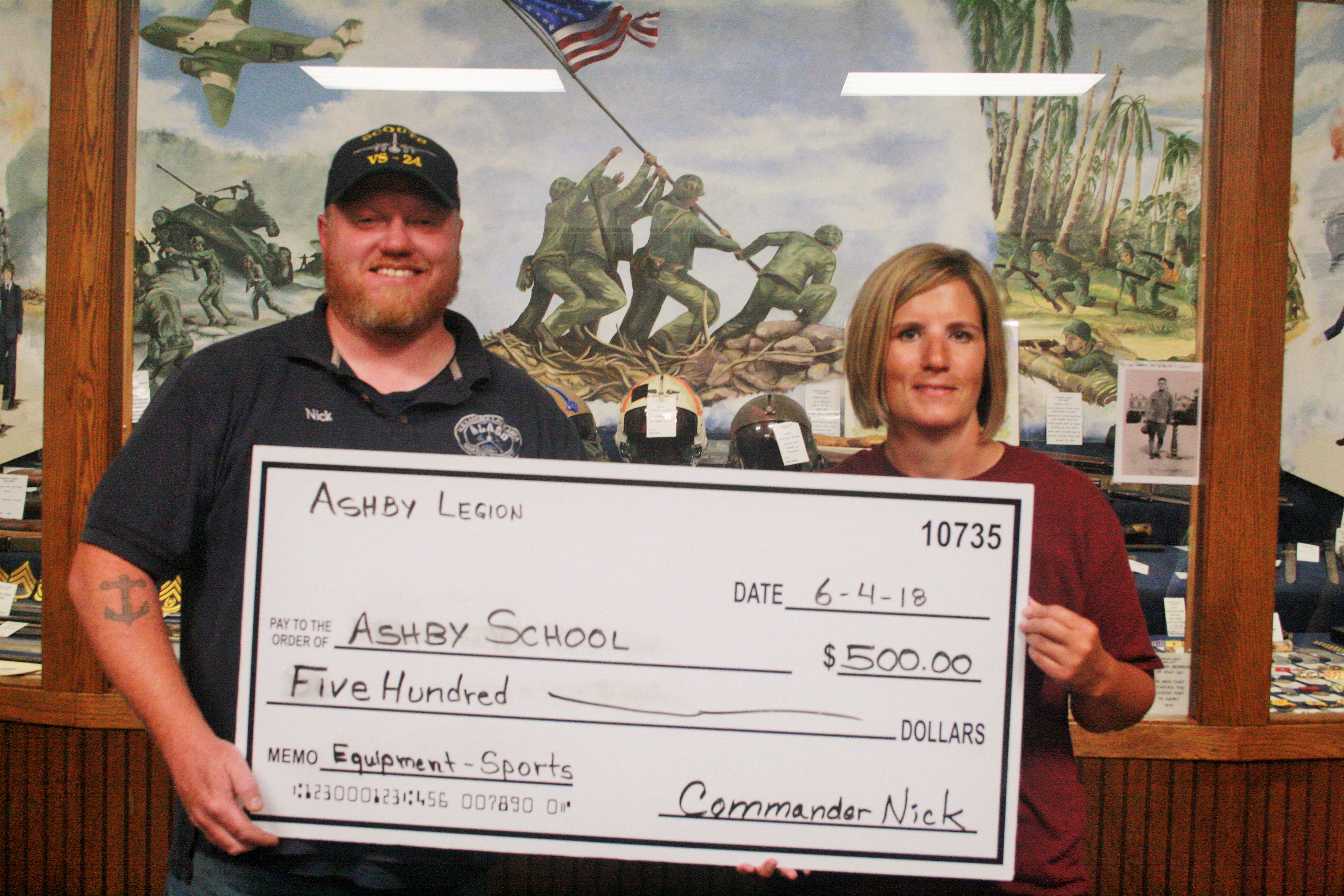 Ashby Legion Donates