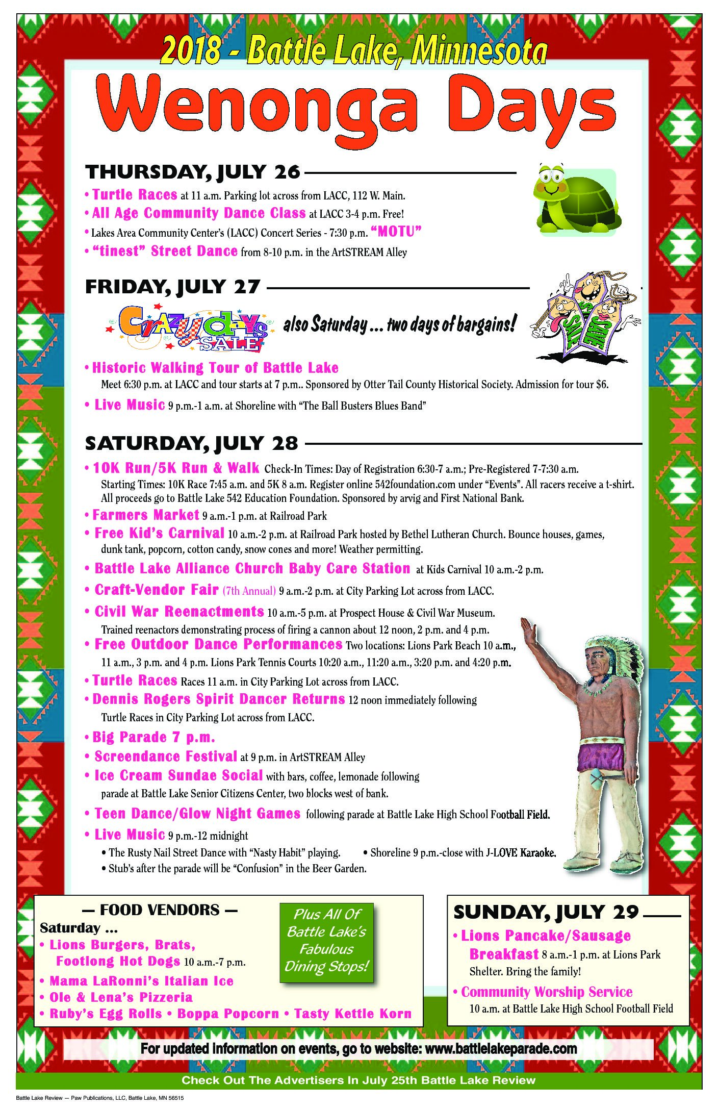 Wenonga Days Events Poster