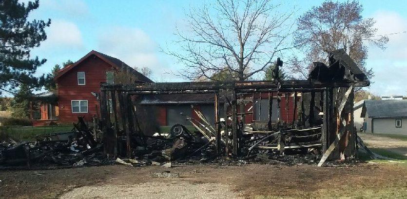 Vining Garage Destroyed By Fire