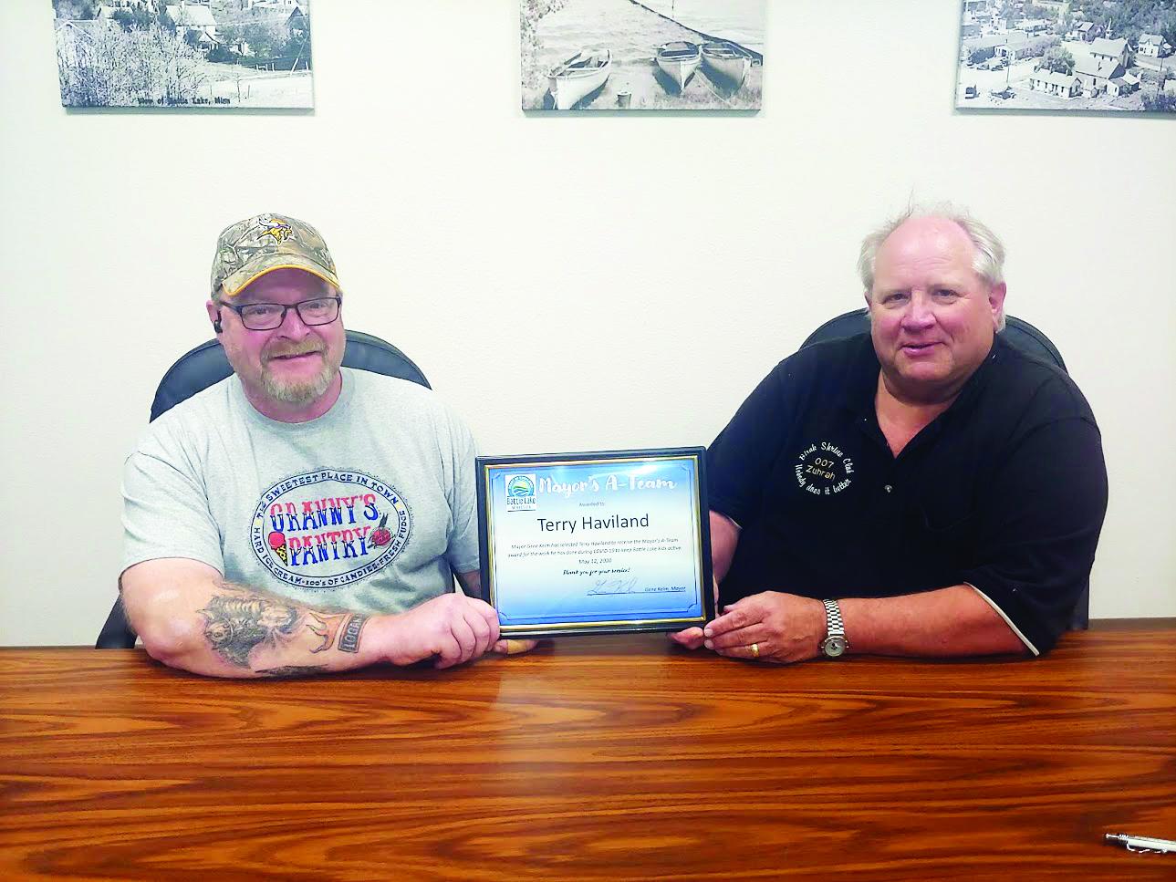 First Mayor's A-Team Awardee – Battle Lake