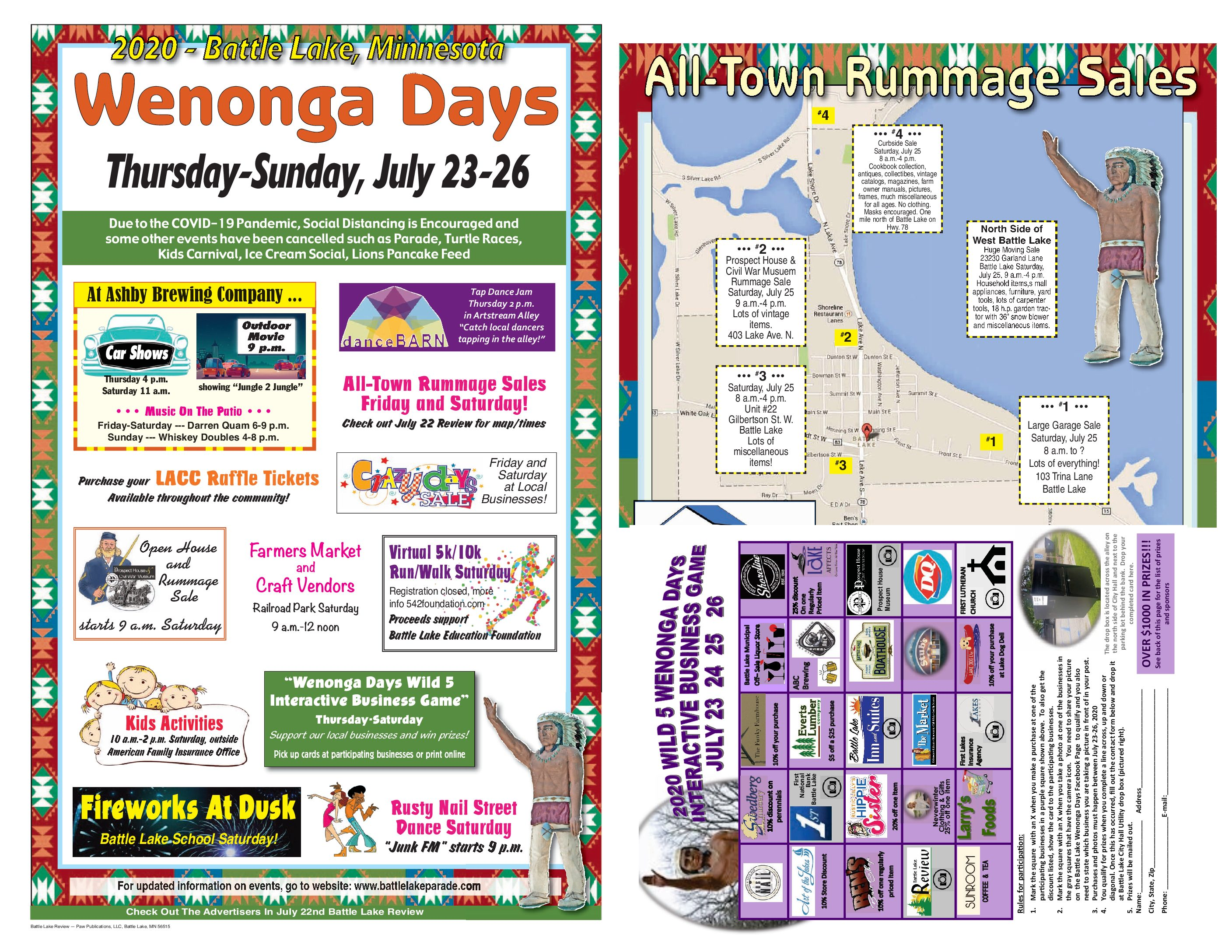 Wenonga Days Events, All-City Rummage, Wild Card Game