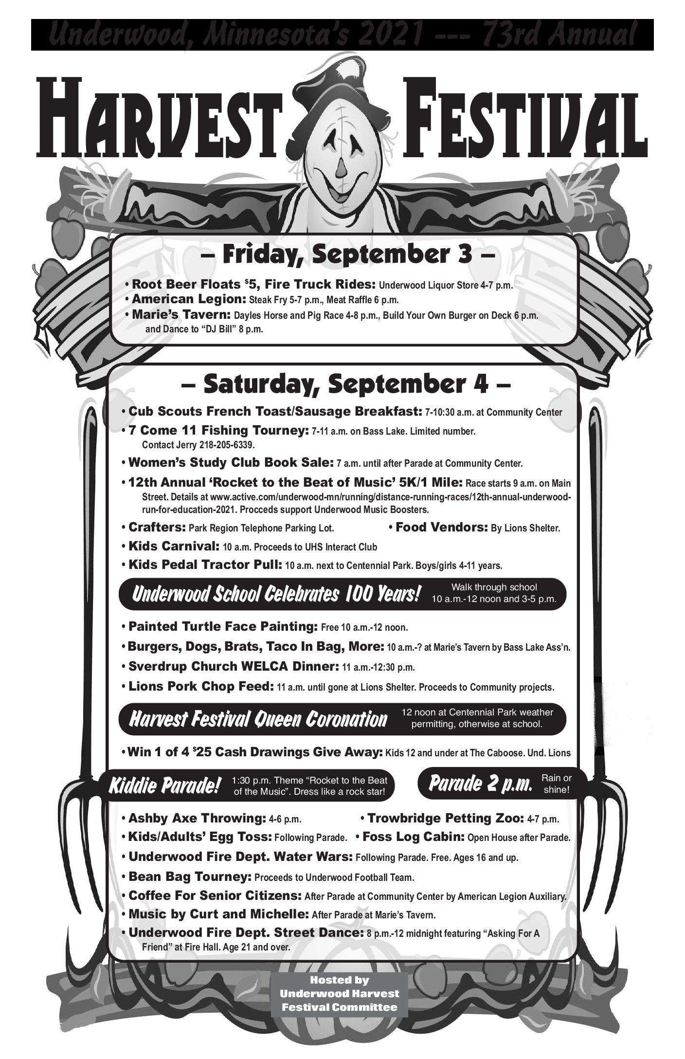 Underwood 73rd Harvest Festival