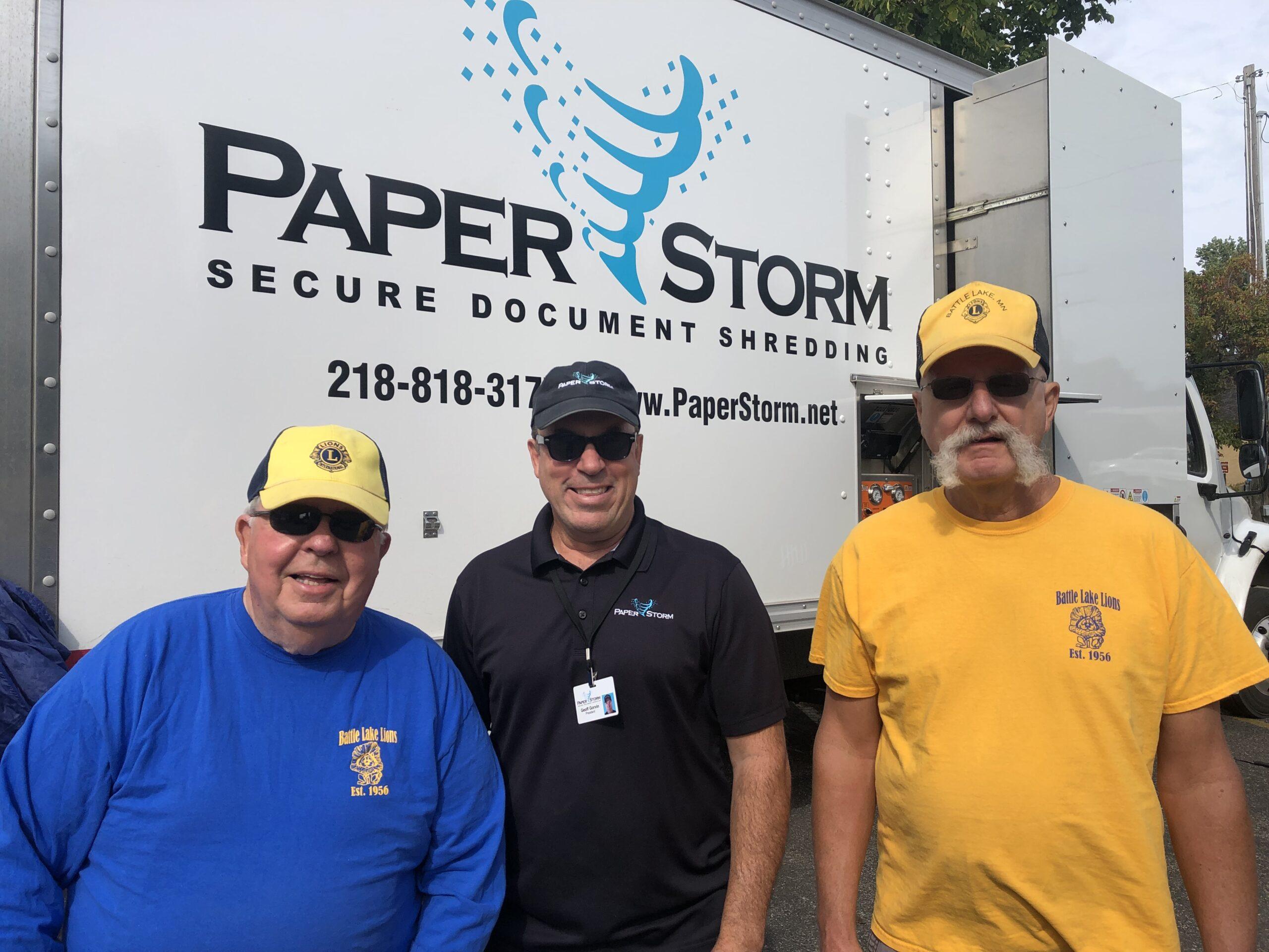 Battle Lake Lions Sponsored Paper Shredding